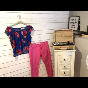 Abercrombie blouse and pants
